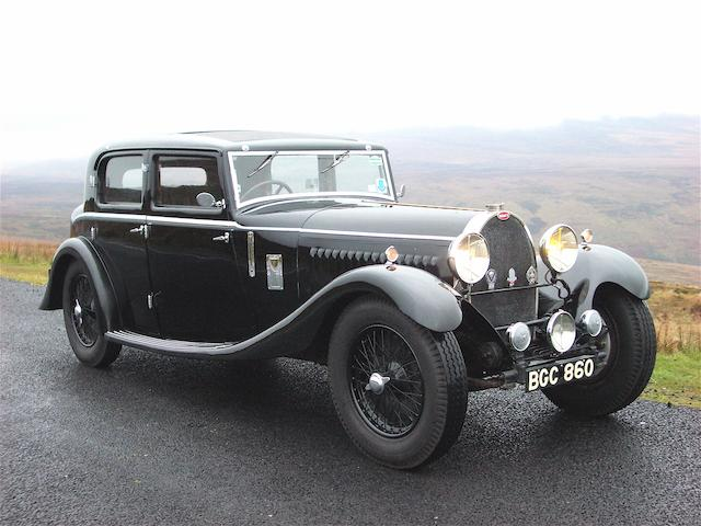 The ex Sam Clutton and Jack Lemon Burton,1930 Bugatti Type 46 5,360cc Sports Saloon  Chassis no. 46534 Engine no. 383