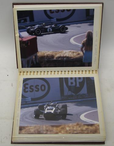 An album of motorsport photographs and ephemera,