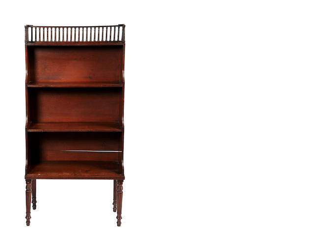 A Regency mahogany 3-tier waterfall bookcase