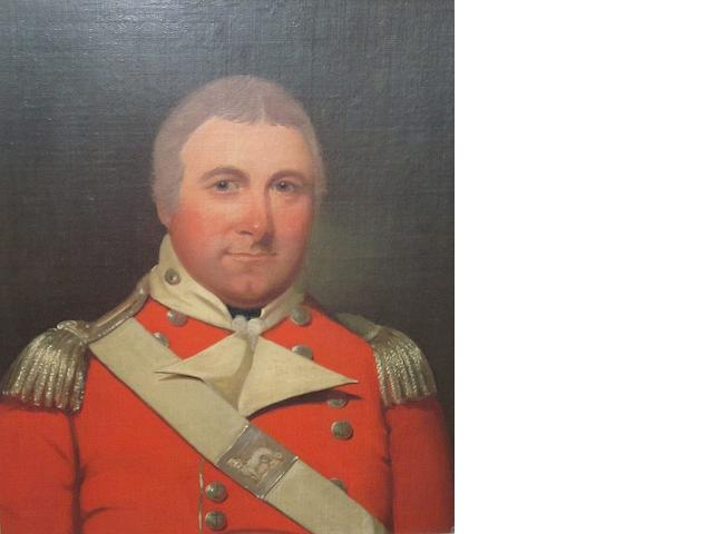 English School Portrait of Colonel William Minto R.M.A. 56cm x 49cm.