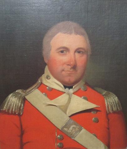 English School Portrait of Colonel William Minto R.M.A. 56cm x 49cm.