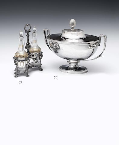 A French silver two handled oval soup tureen By Alexandre-Andre-Camille Lesot de la Panneterie, Paris circa 1800