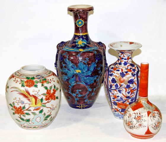 A quantity of Oriental pottery and porcelain