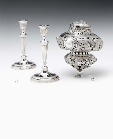 An early 18th century Dutch silver sanctuary lamp By Cornelis van Beeck (II) Utrecht 1716