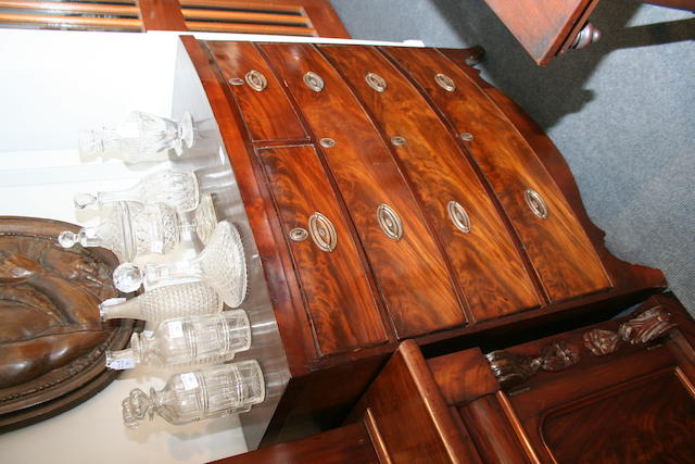 A Regency mahogany bow-front chest of drawers