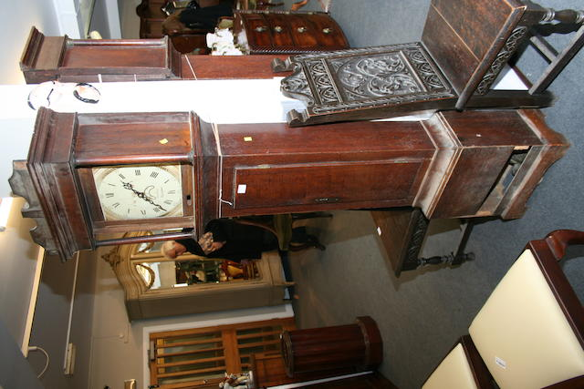 A late 18th century oak thirty hour longcase clock Charles Steel of Campden