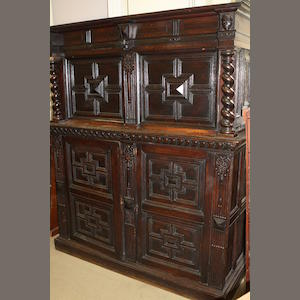 A Victorian carved oak cabinet in the 17th century style