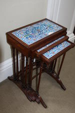 A Regency style quartetto set of four tables, first quarter 20th century