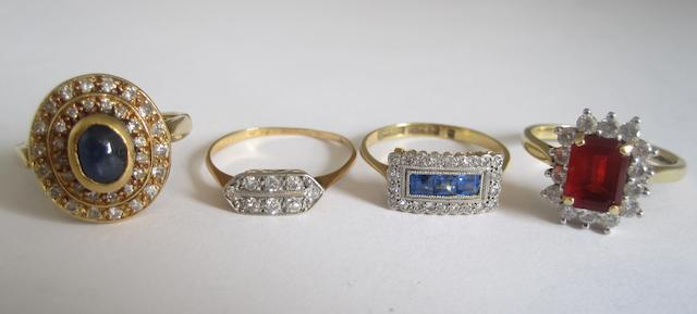 A collection of four rings