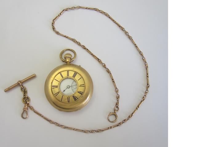 An 18ct gold half-hunter pocket watch, by William Hislop,