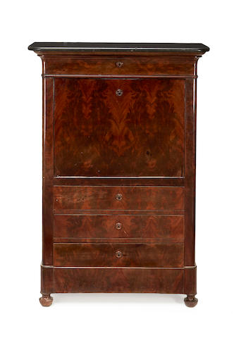 A Louis Philippe mahogany secretaire a abattant