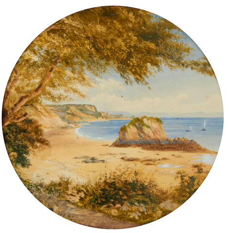 William Wyld, RI (British, 1806-1889) Devon coastal views, a pair 28cm (11in) diameter (2)