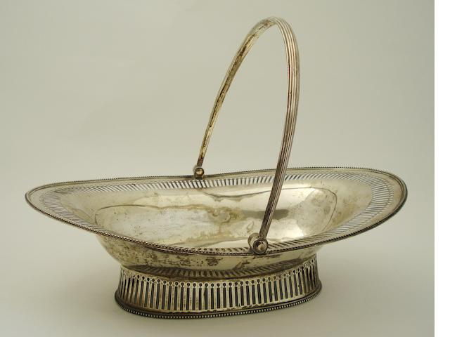 A George III silver fruit basket Maker's mark rubbed, London 1787