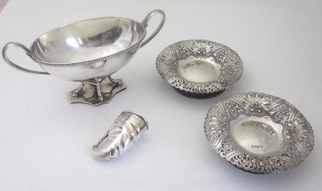 A silver night cap measure Probably by John Charles Grinsell, Birmingham 1907