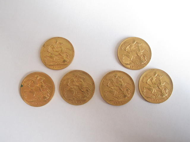 Six sovereigns