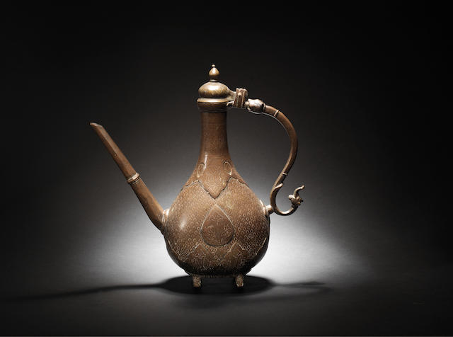 A Mughal brass Ewer Northern India,  18th Century