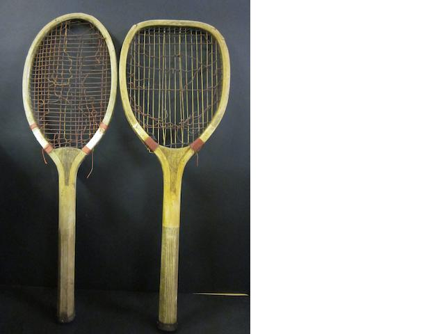 2 early lawn tennis rackets