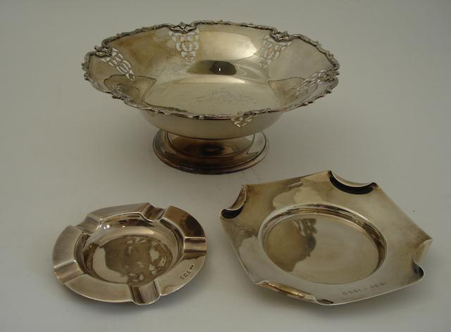 A silver bowl By Mappin & Webb, Sheffield 1933