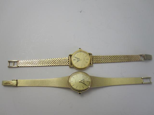 Two quartz movement wristwatches, by Longines
