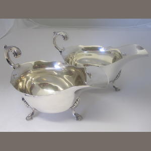 A pair of silver sauceboats By Page, Keen & Page of Plymouth, Sheffield 1932