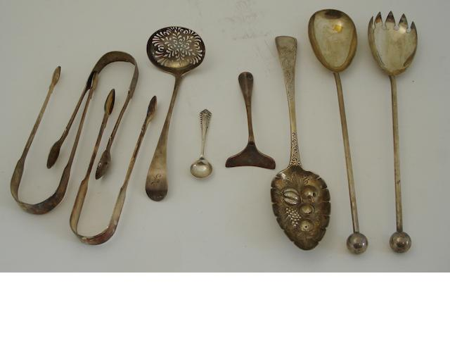 A small collection of flatware Various makers and dates