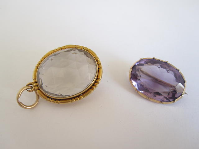 A Victorian rock crystal locket  (2)