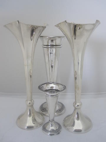 A pair of silver flutes By James Dixon & Sons Ltd., Sheffield 1931  (loaded)