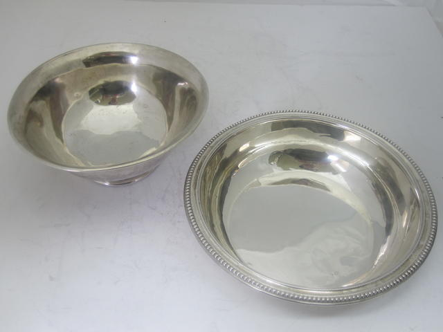 A 19th century French silver vegetable bowl  (2)