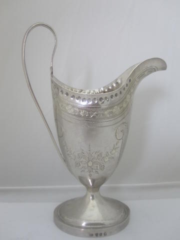 A George III silver cream jug By Peter & Ann Bateman, London 1793