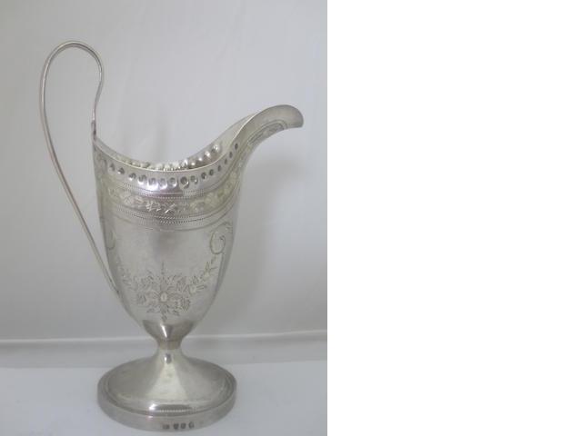 A George III silver cream jug By Peter & Ann Bateman, London 1793