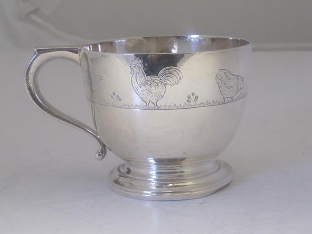 A Britannia standard silver christening cup By Goldsmiths & Silversmiths Company Ltd.,  London 1935