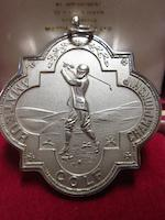A silver 1986 Amateur Championship runner-up medal