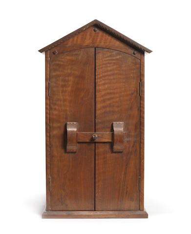 Cotswold School An Arts and Crafts Hanging Cabinet, circa 1910