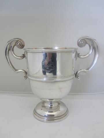 A silver twin handled cup By Goldsmiths & Silversmiths Co Ltd.,  London 1917