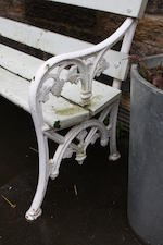A Victorian cast iron garden bench
