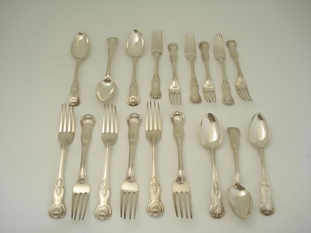 A collection of silver forks and spoons Various makers and dates