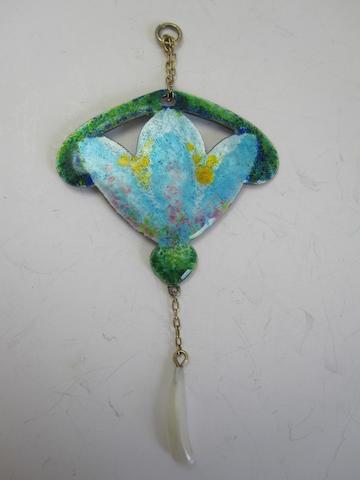 An Art Nouveau enamel pendant