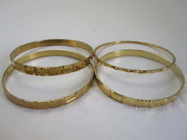 A collection of four bangles
