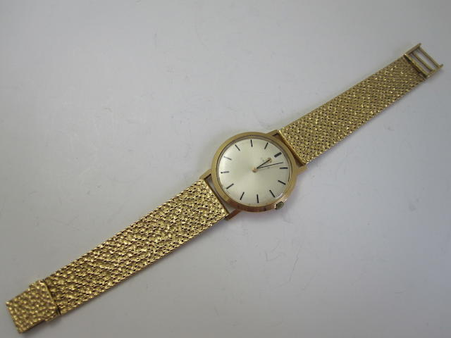 A gentleman's 18ct gold wristwatch, by Omega