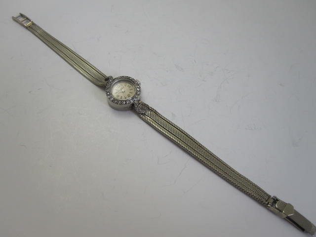 A diamond-set cocktail watch, London 1962