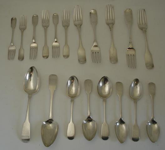 A collection of Dublin flatware Various makers