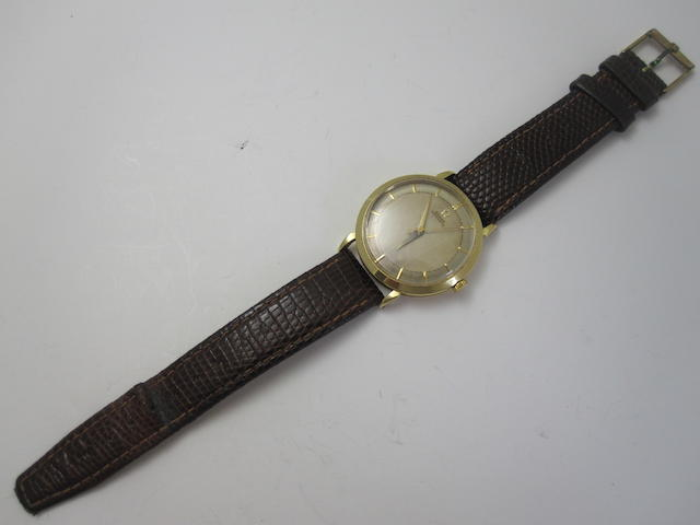 A gentleman's 18ct gold automatic wristwatch, by Omega,