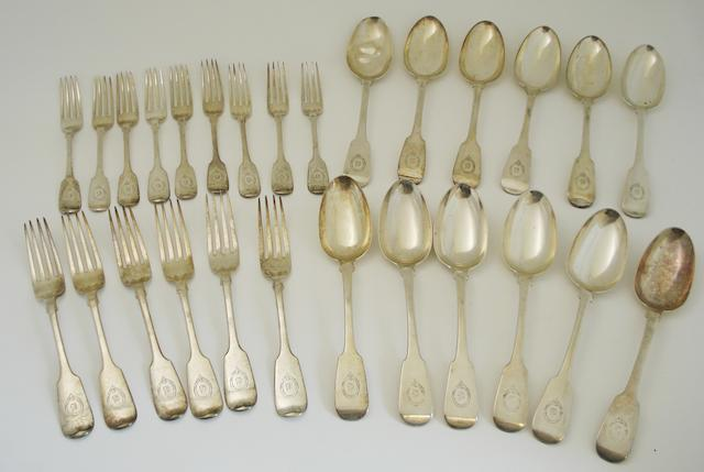 A collection of George IV & William IV silver forks and spoons Various makers and dates