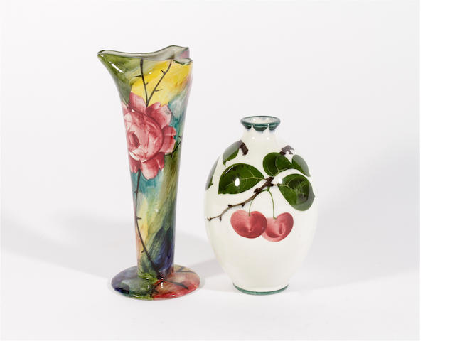 A 'Jazzy' Wemyss vase and another vase