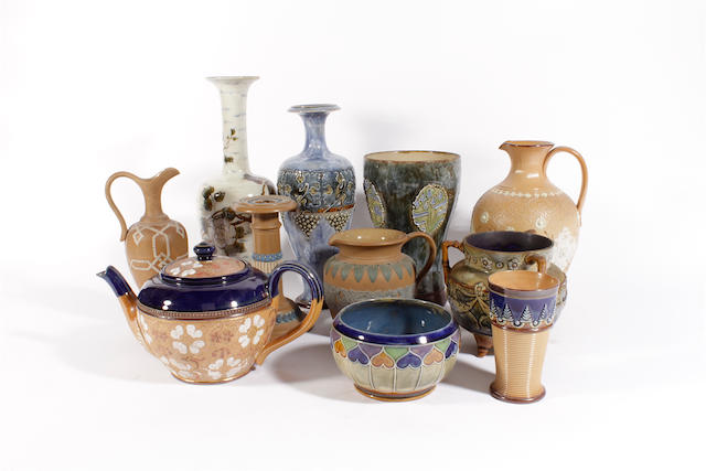 A group of Doulton stoneware
