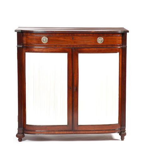 A George IV mahogany 'D' shaped dwarf side cabinet