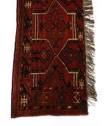 A Yomut tent bag West Turkestan 128cm x 71cm, 134cm x 40cm, 90cm x 117cm.