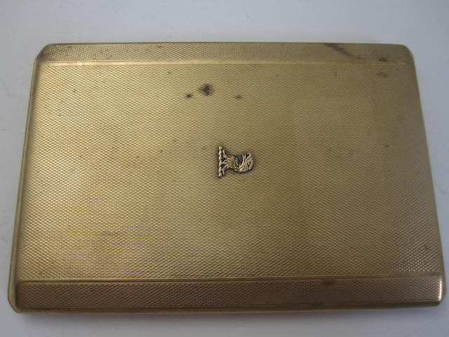 A 9ct gold cigarette case, 1930s