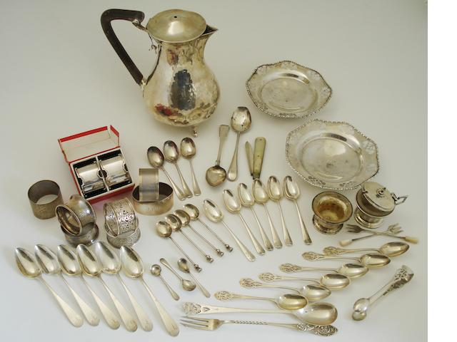 A collection of silver Various makers and dates