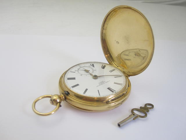 An 18ct gold hunter pocket watch, by John Forrest